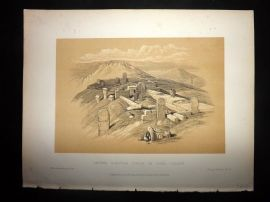 David Roberts Holy Land 1887 Print. Ancient Egyptian Temple on Gebel Garabe